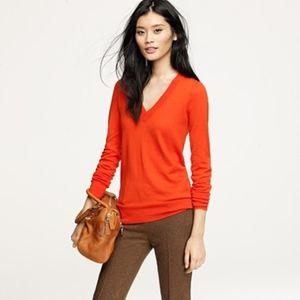 J. CREW Cotton V Neck Sweater XS